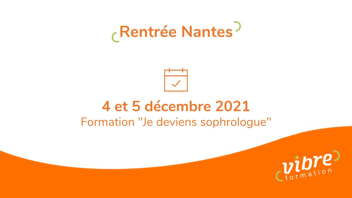 Rentrée 2021 – Formation «Je deviens sophrologue»