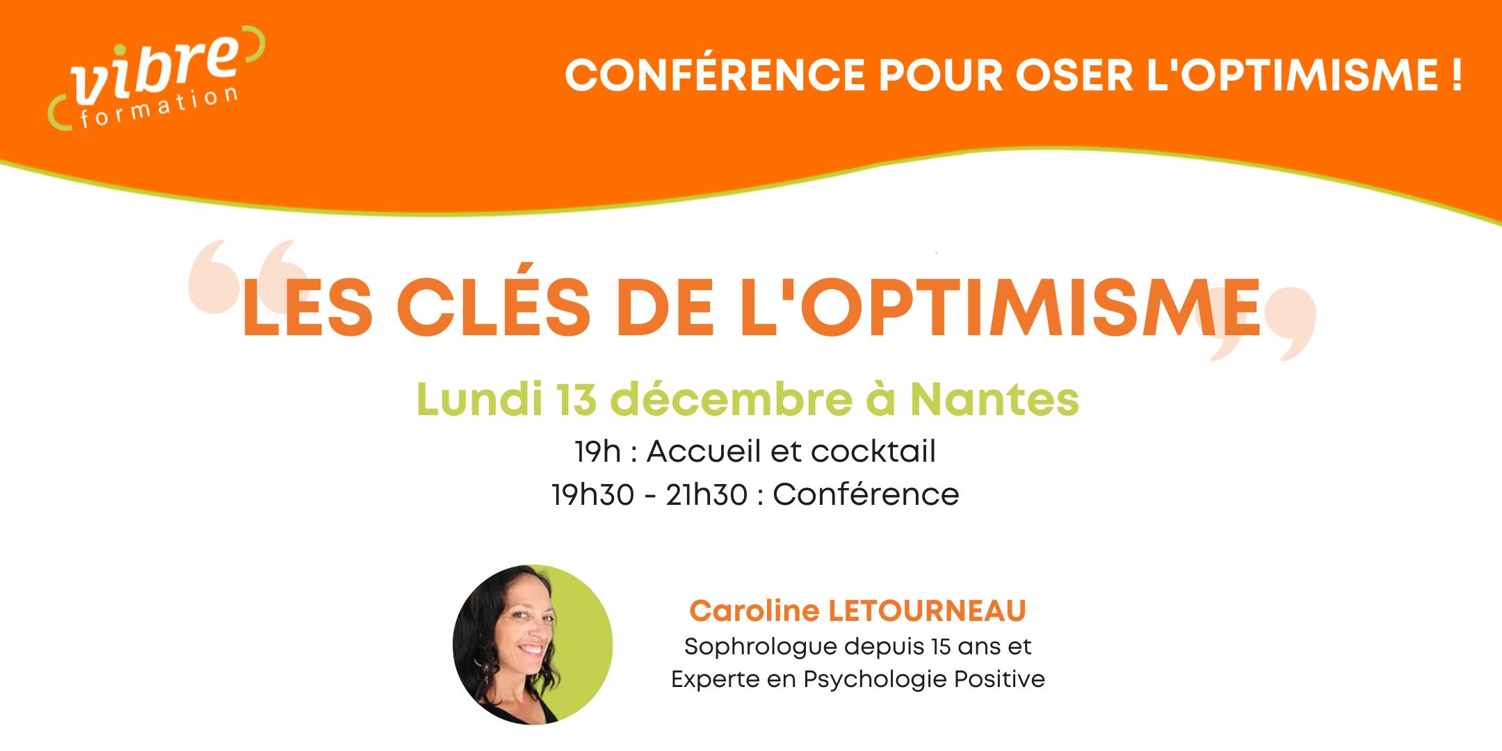 Conférence «Les clés de l'optimisme»