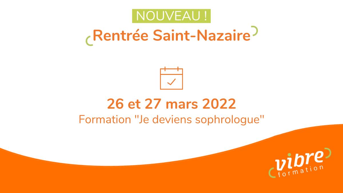 NOUVEAU : Formation Je deviens sophrologue à Saint-Nazaire
